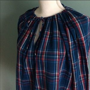 Gap Blue and Red Plaid Top